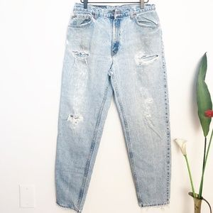 LEVI'S 550 Vintage Distressed Grunge Mom Jeans